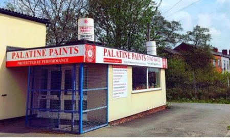 Palatine Paint Front of Business Shop Entrance