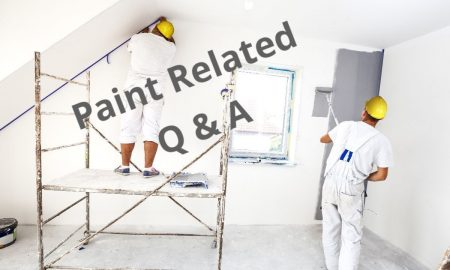 "Decorators painting overlaid with the words ""paint related Q & Q"""