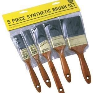 5 PC SYNTHETIC BRUSH SET